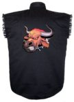 mean bull sleeveless biker shirt