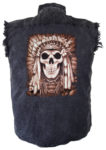 native indian headdress with feathers biker shirt