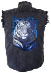 tiger sleeveless biker shirt