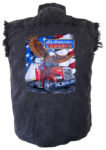 all american trucker cutoff biker shirt