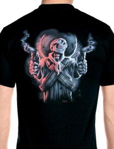 skeleton guy with guns