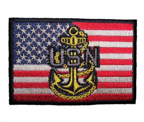 american flag navy logo patch