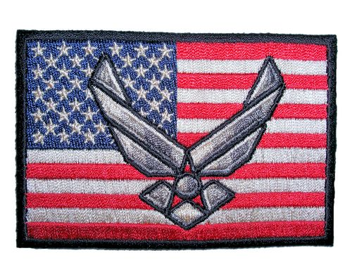 patriotic air force military logo patch