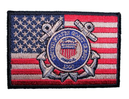 patriotic coast guard patch