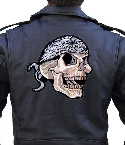 bandanna skull biker