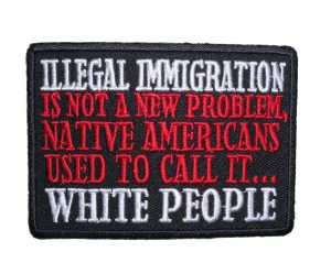 white people patch