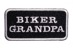 biker grandpa patch