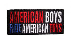 american boys ride american toys patch