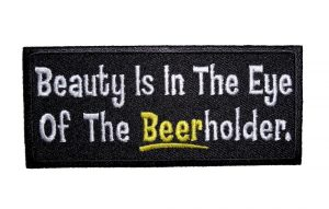 beer-holder funny sayings biker patch