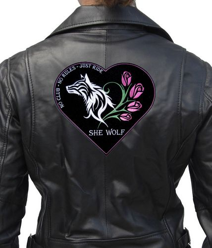 she wolf no club and roses biker patch