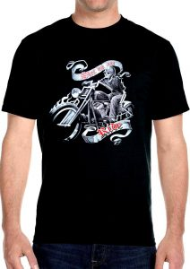 shut up and ride skeleton tee