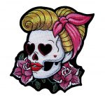 pin up skull patch