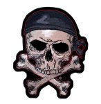 skull and crossbones with bandanna patch