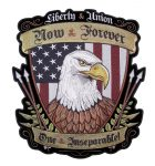 patriotic liberty and union american eagle biker patch