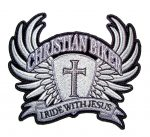 christian biker I ride with Jesus patch