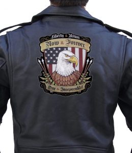patriotic american eagle liberty and union patch