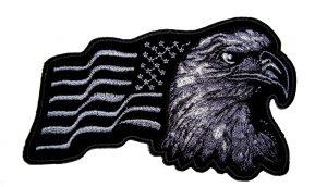 patriotic US american eagle flag biker patch
