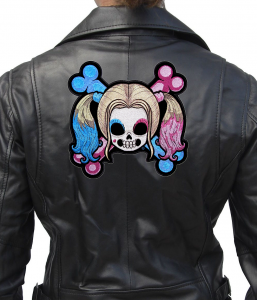 ladies day of the dead skull patch