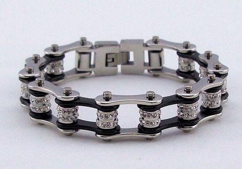 motorcycle biker chain bracelet