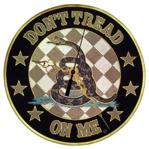 don't tread on me Gadsden snake biker clock