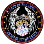 Land of the free biker patch clock