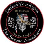 second amendment biker patch clock