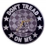 don't tread on me reflective biker patch clock