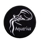 Aquarius biker patch