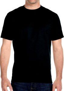 hanes black tee-shirt