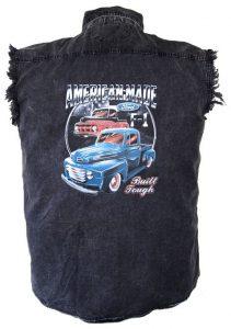 Ford trucks american made denim biker shirt