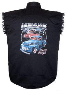 ford trucks black twill biker shirt