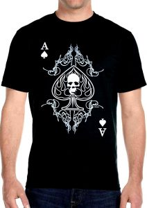 ace of spades skull t-shirt
