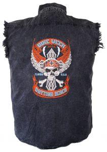 2018 Daytona beach bike week skull charcoal shirt