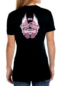 2018 Daytona Beach bike week angel wings tee