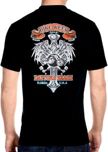 2018 daytona beach bike week cross t-shirt