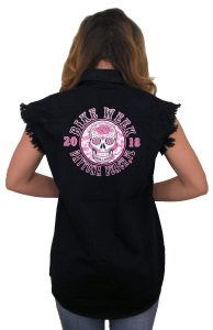 2018 daytona beach bike week sugar skull denim shirt