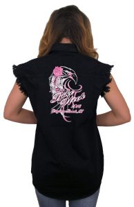 2018 daytona beach bike week eagle rose denim shirt