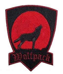 wolfpack howling at the moon biker patch