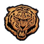 orange baron tiger biker patch