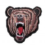 meaning looking brown bear biker patch