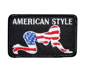 american style babe biker patch