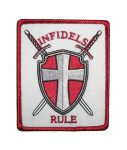 INFIDELS RULE biker patch
