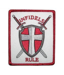 INFIDELS RULE biker patch