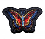 rainbow butterfly lady biker patch