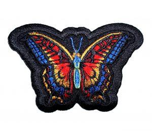 rainbow butterfly lady biker patch