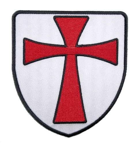christian crusader knight shield biker patch