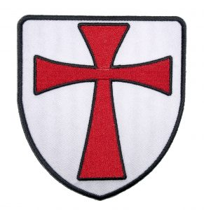 christian crusader templar knight shield biker patch