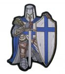 christian crusader blue and white