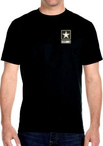 military army logo biker t-shirt