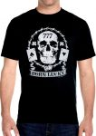 mens born lucky skull t-shirt
